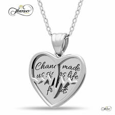 Sister Two Heart Necklace, 925 Silver, Silver Plated Best Sister Forever Necklac