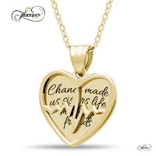 Sister Two Heart Necklace, 925 Silver, 14K Gold Plated Best Sister Forever Neckl