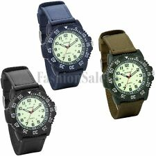 Men's Canva Strap Military Army Infantry Lumious Quartz Sport Wrist Watch Rotary