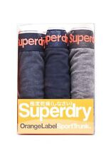 Superdry Three PACK Boxer shorts Men ORANGE LABEL TRIPLE Navy Marl Dark