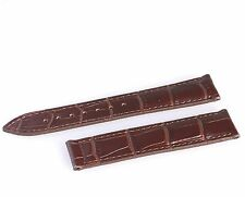 Genuine Leather Strap/Band for Omega Seamaster/Planet Ocean Watch 19mm BROWN