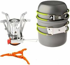 Outdoor Backpacking Cookware Set Camping Stoves Potpan Floding Gas Tank Bracket