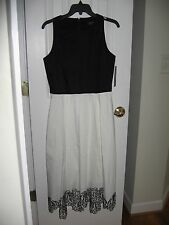 Tahari ASL Colorblock Fit and Flare Dress for woman Size 6 NWT $158