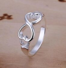 Ring hearts style infinity infinity silver plated, Multi sizes, One direction