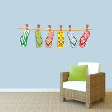 Hanging Flip Flops Printed Wall Decals Wall Stickers