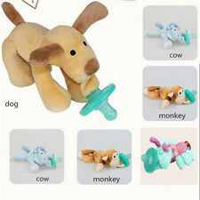 Cute Animal Baby Nipple Infant Wubbanub Silicone Pacifiers With Cuddly Plush