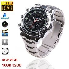 1080P Night Vision DVR Waterproof Watch Camera with IR Night Vision Hidden Cam