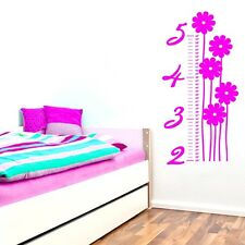 Flower Growth Chart Wall Decals Wall Stickers
