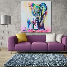 Canvas Elephant Print Wall Hanging Art Painting Sketch Poster Picture Decor