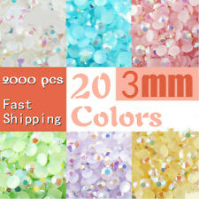 2000pcs 3mm Round Flat Back Rhinestones Embellishments for Crafts Scrapbook Card