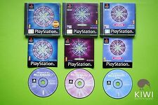 Who Wants To Be A Millionaire? 2nd Edition & Junior PS1 PS2 PS3 PAL Game Bundle
