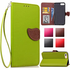 Luxury Magnetic PU Leather Wallet Flip Credit Card Case Cover For iPhone Phones