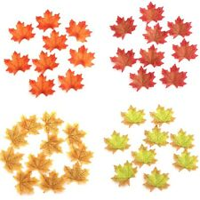 100PCs Artificial Maple Leaf Garland Fall Leaves Decor Harvest Autumn Foliage