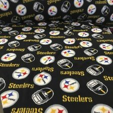 Pittsburgh Steelers Black Gold and White Fleece Fabric