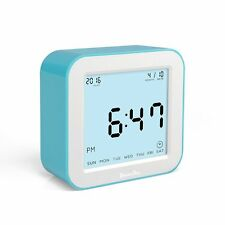 Digital Alarm Clock Large Screen Desk Home Table Rotating Clock with Time Date