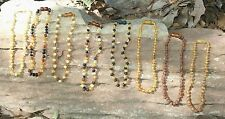 Baltic Amber Teething Necklace, Raw, Unpolished, Safety or Screw Clasp