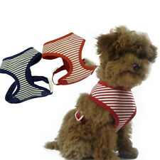 Dog Harness Soft Mesh Pet Cat Vest Adjustable XS - XL Red Navy Blue Stripes
