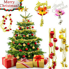 Christmas Bells Jingle Pendant Bead Chain Garland Party Xmas Tree Ornament Decor