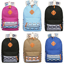 Women Men Backpack School Bags Shoulder Bag Rucksack Canvas Travel Outdoor Bags