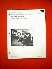 """BOLENS TRACTOR 42"""" SNOWBLOWER SNOWTHROWER ATTACHMENT # 18103 OWNER MANUAL 11/73"""