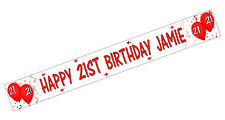 PERSONALISED BANNERS NAME AGE PHOTO BIRTHDAY PARTY 50th 60th 70th 80th red C3