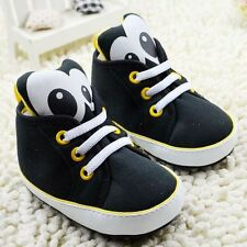 Toddler Baby Boy Girl Panda Crib Shoes Soft Sole Size 0-6 6-12 12-18 months