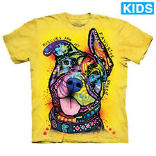 MY FAVORITE BREED Kids T-Shirt Pit Bull Rescue Dog The Mountain Boy Girl NEW!