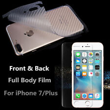 Front Anti-shock Film+ Back Carbon Fibre Skin=Full Body Cover For iPhone 7/ Plus