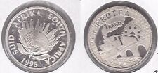 SOUTH AFRICA – SILVER PROOF 1 RAND COIN 1995 YEAR KM#152 PROTEA TRAIN