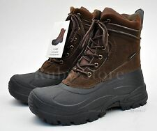"""LABO Men's Brown 8"""" Winter Snow Boots Shoes Waterproof Insulated Lace UP 903"""