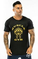 Mens Muscle Fitness Training T-shirts Muscle Works Gym Bodybuilding Casual Wear