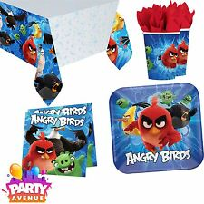Angry Birds The Movie Birthday Party Tableware Plates Cups Napkins Tablecovers