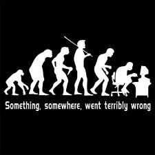 SOMETHING SOMEWHERE WENT TERRIBLY WRONG (red hat enterprise dvd linux) T-SHIRT
