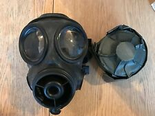 British Army Police Avon Rubber Respirator Gas Mask 2002 S10 Filter Size 4 Small