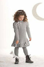NWT Biscotti Girls' Silver Bells Holiday Dress ~ Size 7
