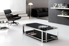 Milla Polished Stainless Steel Coffee Table With Tempered Glass