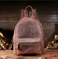 Vintage Women Genuine Cow Leather Backpack Lady Shopping Satchel Travel Handbag