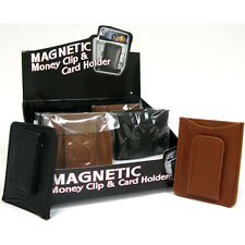 2 X  *MAGNETIC*MONEY CLIP & CARD HOLDER color (Black or Brawn )