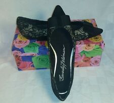 Black Lace Flats with Bow from Beverly Feldman ~$24.99+FREE SHIPPING