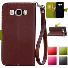 New Fashion Leather Wallet Card Slots Skin Case Cover For Samsung Galaxy ON5 ON7