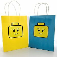 1 x LEGO Legoman Birthday Paper Lolly Loot Bag. Man Party Supplies *HANDMADE*