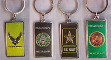 US Army Air Force Marines Veteran Retired Military Key Chains 12Pc Lot (7506KC^)