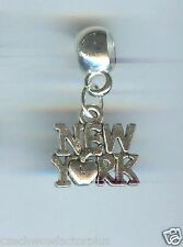 NEW YORK APPLE, Small fits European & Charm Bracelets, CLASP, CLIP ON - E364