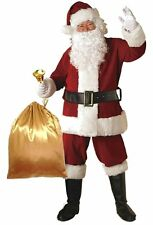 Men's Deluxe Santa Suit Christmas Adult Santa Claus Cosplay Costume