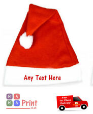 PERSONALISED embroidered ADULT SANTA CHRISTMAS  HAT - OFFICE PARTY / FANCY DRESS