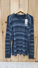prAna Mens Driftwood Crew - Long Sleeve Tee - Charcoal - Assorted Sizes - New
