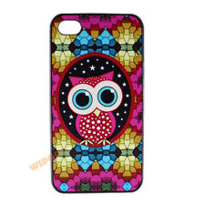 Owl Bird Kaleidoscope Stars Pattern Hard Case Cover for Apple iPhone 4 4S 5 5S
