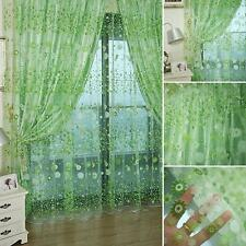 Floral Tulle Voile Door Window Curtain Drape Panel Sheer Room Scarf Valances HOT