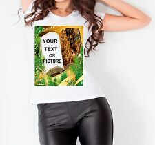 Customised Christmas Book Your Text Women T shirt Vest Top Gift New Year Present