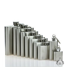 Stainless Steel Hip Flask Liquor Whiskey Alcohol Pocket Bottle Funnel Case